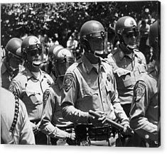 Uc Police Ready Acrylic Print by Underwood Archives Thornton
