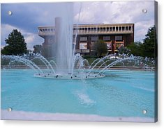 Ucf Reflection Pond 2 Acrylic Print by Warren Thompson