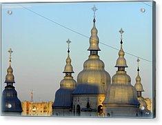 Ucraina..chiesa Acrylic Print by Halina Nechyporuk