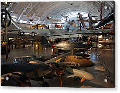 Udvar-hazy Center - Smithsonian National Air And Space Museum Annex - 1212109 Acrylic Print by DC Photographer