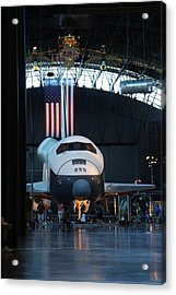 Udvar-hazy Center - Smithsonian National Air And Space Museum Annex - 121255 Acrylic Print by DC Photographer