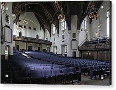 Uf University Auditorium Interior And Seating Acrylic Print by Lynn Palmer