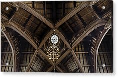 Uf University Auditorium Vaulted Wooden Arches Acrylic Print by Lynn Palmer