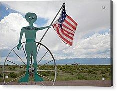 Ufo Watchtower Acrylic Print by Jim West