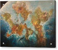 Ufo's Entering Atmosphere Acrylic Print by Tom Shropshire