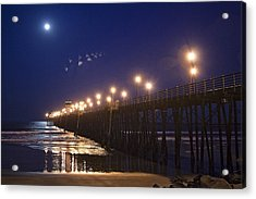 Ufo's Over Oceanside Pier Acrylic Print