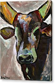 Ugandan Long Horn Cow Acrylic Print