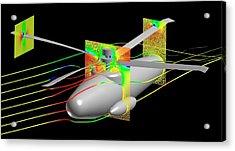Uh-60 Helicoptor Simulation Acrylic Print