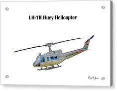 Uh-ih Huey Helicopter Acrylic Print