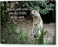 Uinta Ground Squirrel - Psalm 98 Acrylic Print