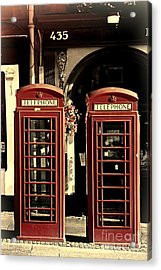 Uk Phone Box Acrylic Print