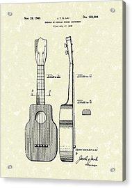 Ukelele 1940 Patent Art Acrylic Print