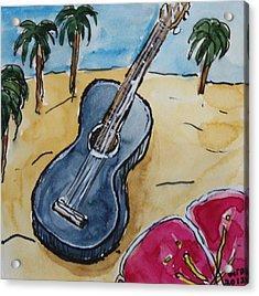 Ukulele At The Beach Acrylic Print