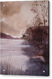 Ullswater Boathouse English Lake District  Acrylic Print