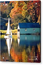 Ullswater Acrylic Print by Linsey Williams
