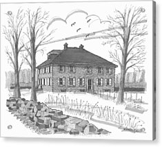Acrylic Print featuring the drawing Ulster County Museum by Richard Wambach