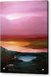 Acrylic Print featuring the painting Ultimate Paecefulness  by Ray Khalife