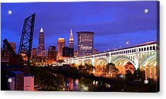 Ultra Rez Clevelands Best View Panorama  Acrylic Print