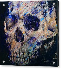 Ultraviolet Skull Acrylic Print by Michael Creese