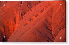 Uluru 1 Acrylic Print by Evelyn Tambour