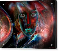 Acrylic Print featuring the digital art Umbilical Connection To A Dream  by Otto Rapp