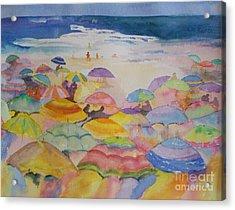 Umbrella Abstract Acrylic Print
