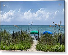 Acrylic Print featuring the photograph Umbrella Heaven by Kathy Baccari