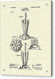 Umbrella Holder 1900 Patent Art Acrylic Print by Prior Art Design