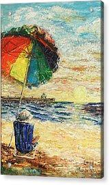 Umbrella Sunrise Acrylic Print