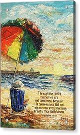 Umbrella Sunrise Lamentations 2 Acrylic Print