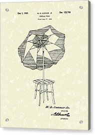 Umbrella Table 1940 Patent Art Acrylic Print by Prior Art Design