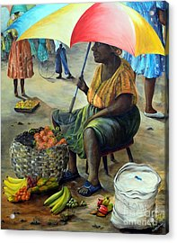 Umbrella Woman Acrylic Print