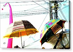 Umbrellas And Wires Acrylic Print