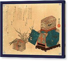 Ume Ni Kago No Uguisu Acrylic Print