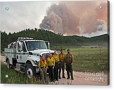 Acrylic Print featuring the photograph Umpqua Engine 25 On Myrtle Fire by Bill Gabbert