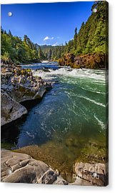 Umpqua River Acrylic Print by David Millenheft