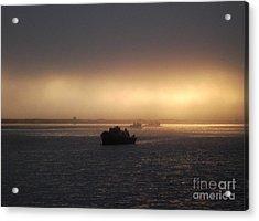 Umpqua River Sunrise Acrylic Print by Erica Hanel