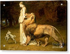 Una And Lion From Spensers Faerie Queene Acrylic Print