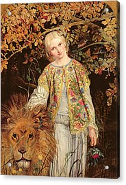 Una And The Lion, Exh. 1860 Acrylic Print