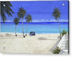 Una Barca Blu Acrylic Print by Guido Borelli