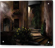 Una Notte Tranquilla - A Quiet Night Acrylic Print by Ron Grafe