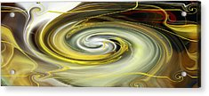 Acrylic Print featuring the digital art Unbarred Space Abstract by rd Erickson