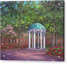 Unc Old Well In Spring Bloom Acrylic Print