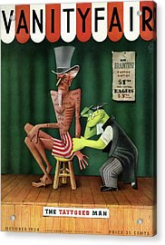 Uncle Sam Being Tattooed Acrylic Print
