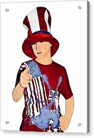 Uncle Sam Acrylic Print by Susan Leggett