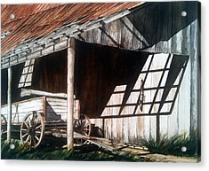 Uncle Seifs Wagon  Acrylic Print by Don F  Bradford