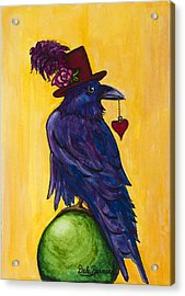 Uncommon Raven Love 1 Acrylic Print