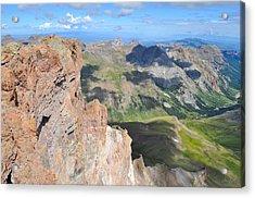 Uncompahgre Peak Summit Acrylic Print by Aaron Spong