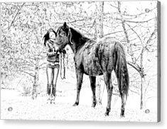 Unconditional Love Acrylic Print by Frank Sciberras