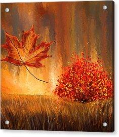 Undeniably Autumn- Autumn Impressionist Painting Acrylic Print by Lourry Legarde